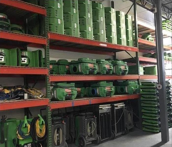 Water mitigation equipment. Stock of air movers and dehumidifiers
